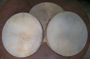 3 hand drums..